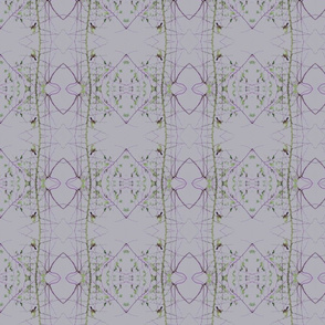 Birds & Branches (Oval Purple)