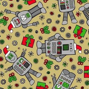 Merry Robots (Gold)