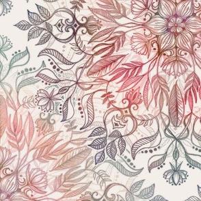 Autumn Spice Mandala in Coral, Cream and Rose