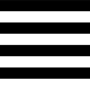 Stripes - Horizontal - 1 inch (2.54cm) - Black (#000000) & White (#FFFFFF)