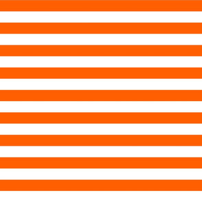 Stripes - Horizontal - 1 inch (2.54cm) - White (#FFFFFF) & Orange (#FF5F00)