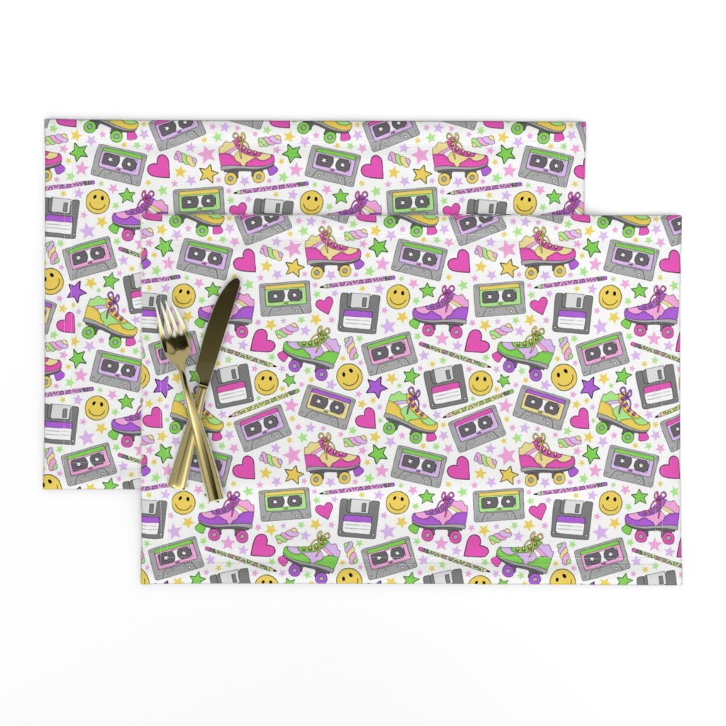 Lamona Cloth Placemats featuring 90s nostalgia by hazelfishercreations