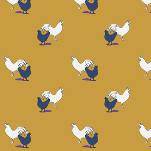 Chickens mustard party