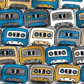 Cassettes Silver, Blue, & Gold