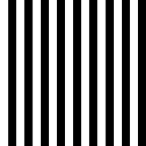 Stripes - Vertical - 1 inch (2.54cm) - Black (#000000) & White (#FFFFFF)