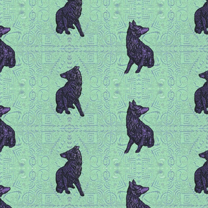 Coyote just in tile - nightshade on jade