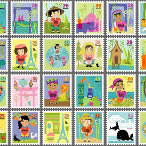 Wee Are The World Stamps