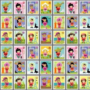 Wee World Children Stamps