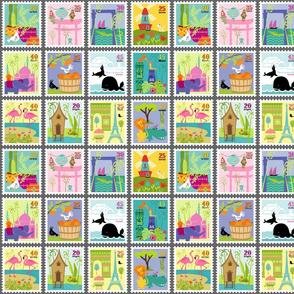 Wee World Landmark Stamps