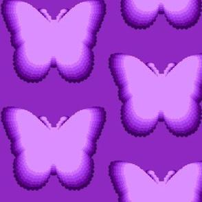 Purple Butterflies Leaping