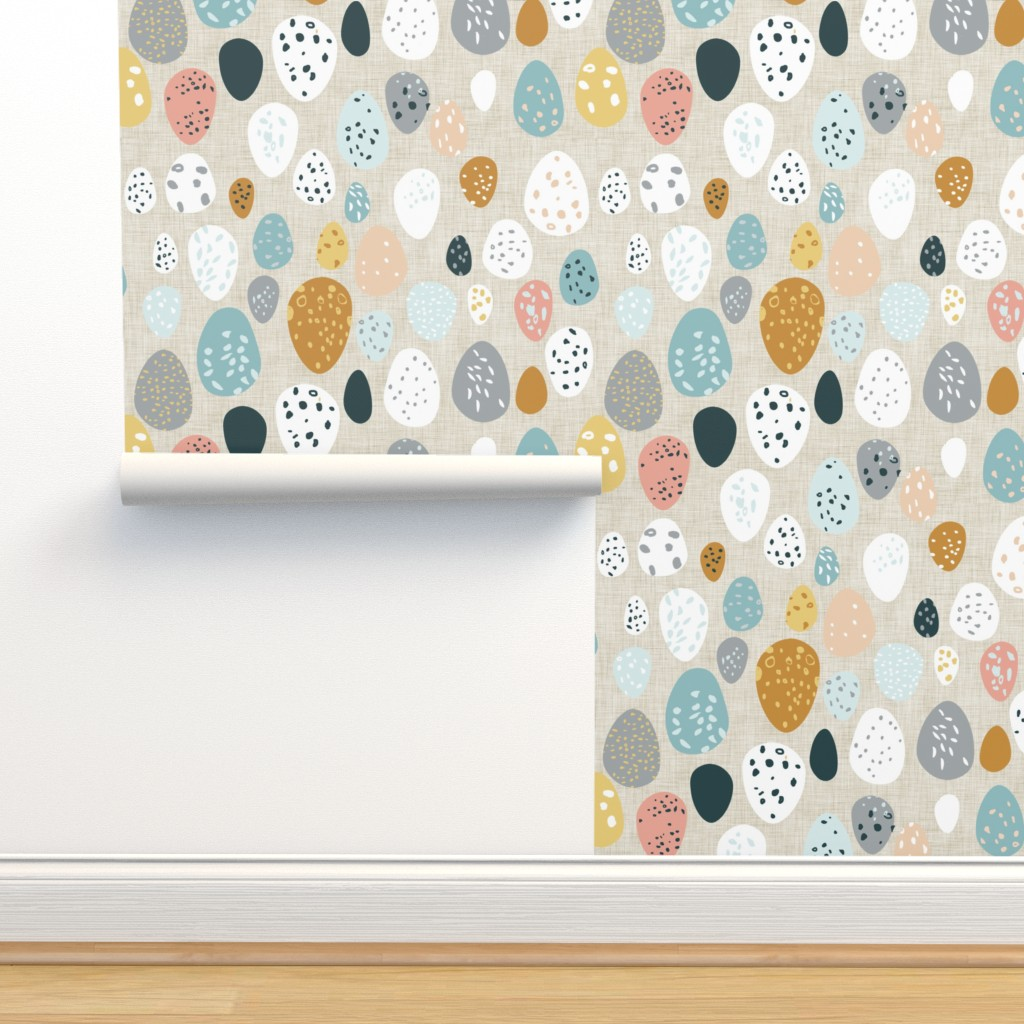 Isobar Durable Wallpaper featuring Eggs (fawn) by nouveau_bohemian