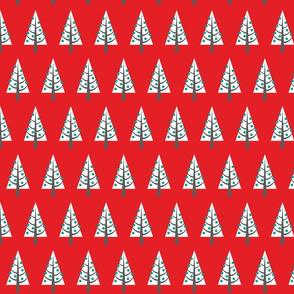 Xmas Trees - red