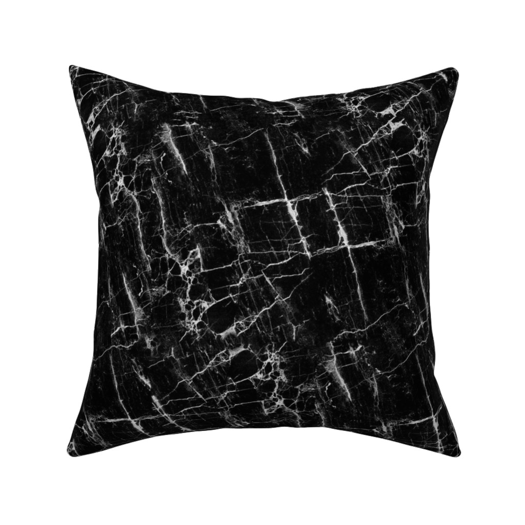 Catalan Throw Pillow featuring Black Marble by kimsa