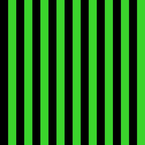 Stripes - Vertical - 1 inch (2.54cm) - Light Green  (#3Ad42d)
