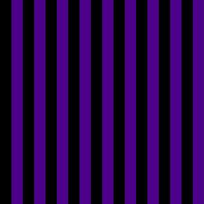 Stripes - Vertical - 1 inch (2.54cm) - Dark Purple (#4D008A) & Black (#000000)