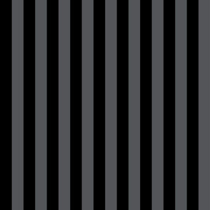 Stripes - Vertical - 1 inch (2.54cm) - Dark Grey (#545559)