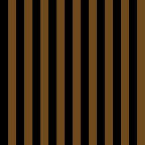 Stripes - Vertical - 1 inch (2.54cm) - Brown (#F9EA62) & Black