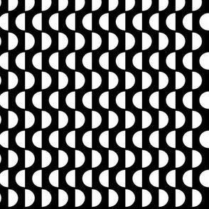 Mod Black & White Semi-circles