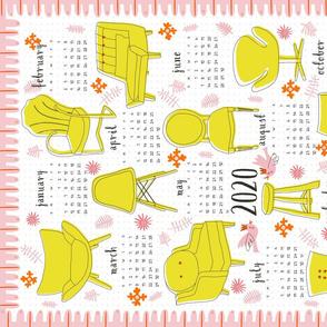 2020 'flea market finds' Calendar (white)