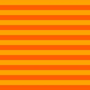 Stripes - Horizontal - 1 inch (2.54cm) - Orange (#FF5F00) & Light Orange (#FFA300)