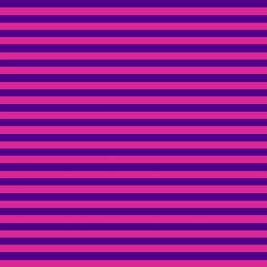 Stripes - Horizontal - 0.5 inch (1.27cm) - Purple (#4D008A) & Dark Pink (#DD2695)