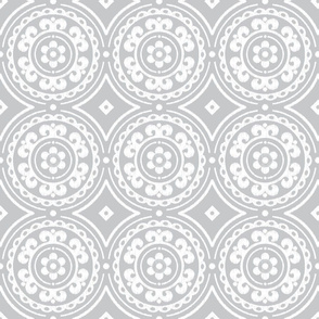 Light Gray Medallion