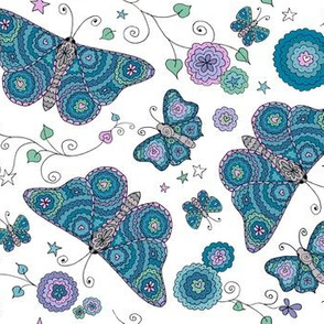 Butterfly Daydream (smaller scale) - by Kara Peters