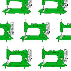 Sew Geek Sewing Machines in Green