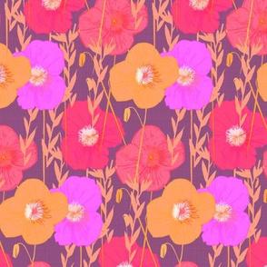 Jewel Tone Fall Poppies