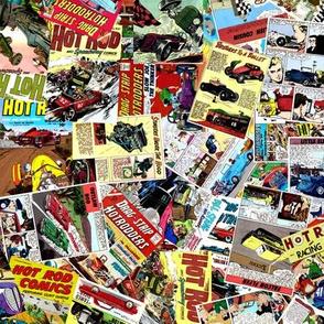 vintage comic book automotive