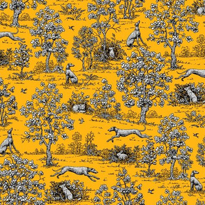 Gold and Black Greyhound Toile ©2011 by Jane Walker