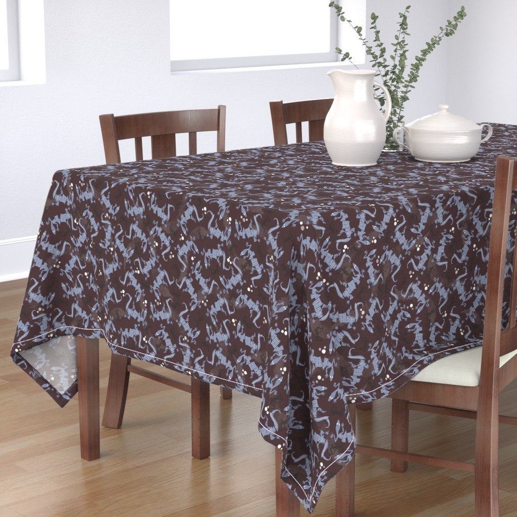 Bantam Rectangular Tablecloth featuring Ditzy Lizard desert night by colour_angel_by_kv