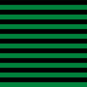 Stripes - Horizontal - 1 inch (2.54cm) - Dark Green (#00813C) & Black (#000000)
