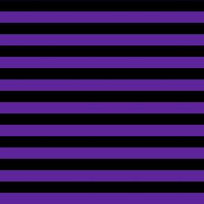 Stripes - Horizontal - 1 inch (2.54cm) - Purple (#5E259B) & Black (#000000)