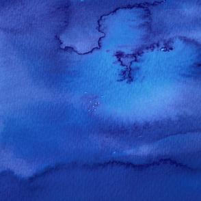 Ocean - Abstract Blue Watercolor
