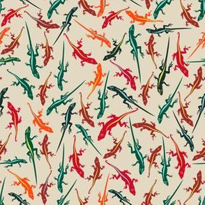 Colorful Anole Lizards