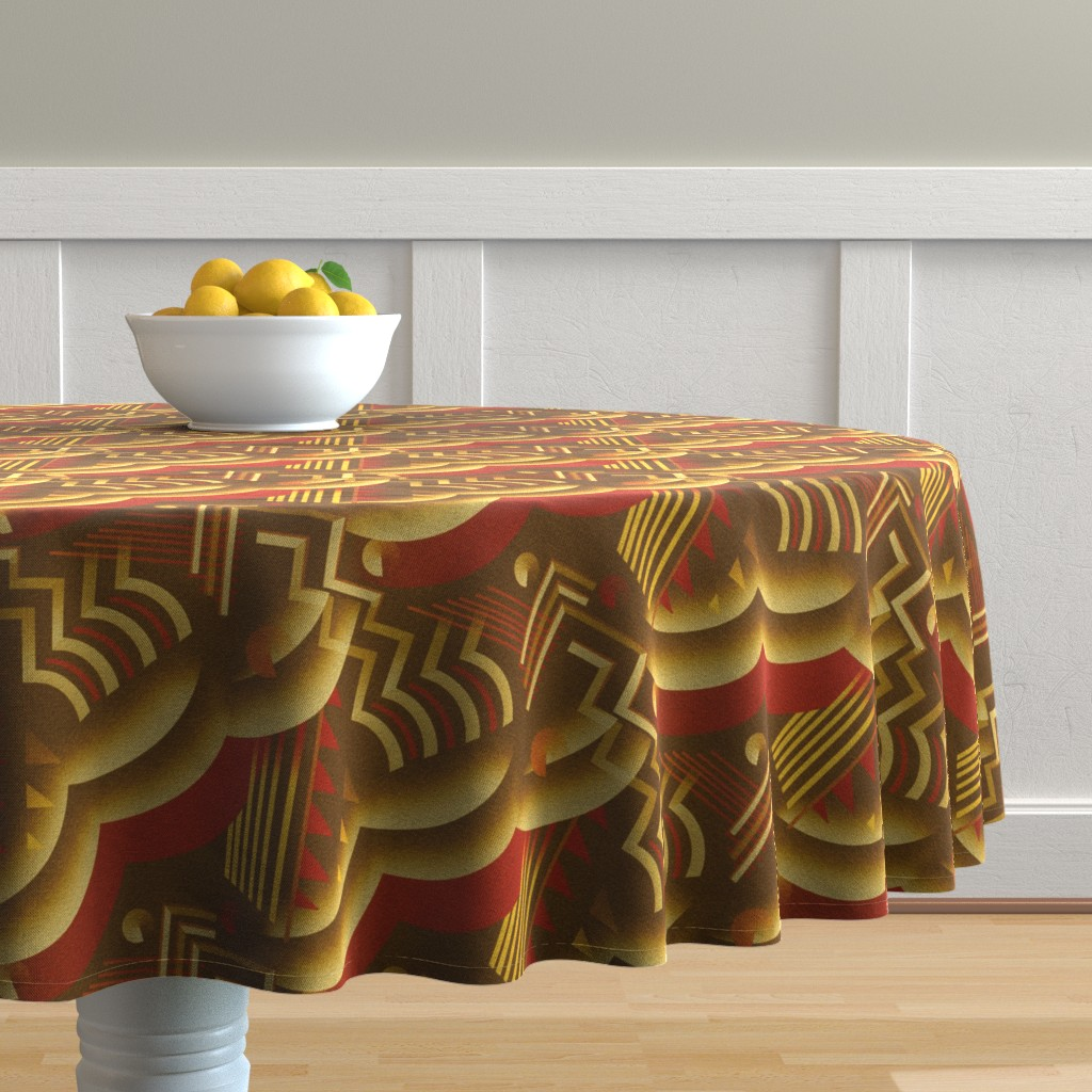 Malay Round Tablecloth featuring Crocodile by iizzard