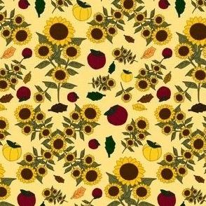 Sunflower Fall Flowers Fabric 3