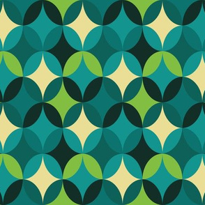 Retro Ovals Green With Envy