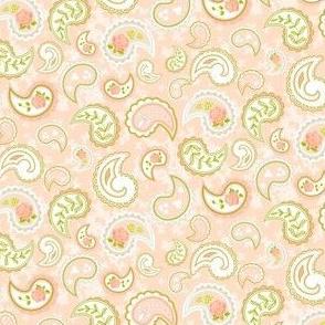 Coral Rose Paisley
