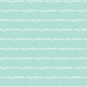 Merry christmas abstract happy holidays theme text design modern trendy typography hand written print in mint