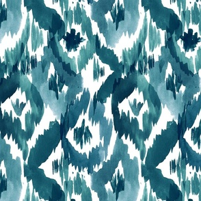 Ikat Diamonds Teal