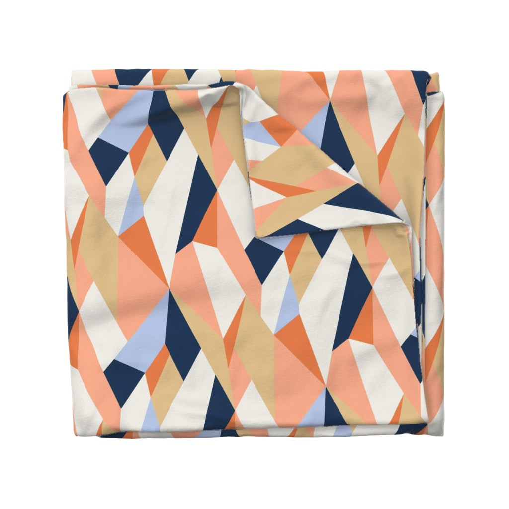 Wyandotte Duvet Cover featuring Moderne Geometric Wallpaper and Fabric by willowlanetextiles
