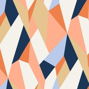 Moderne Geometric Wallpaper and Fabric