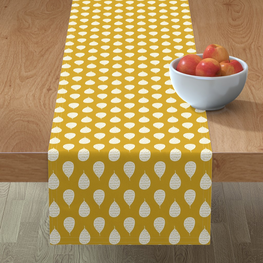 Minorca Table Runner featuring Autumn nuts by heleen_vd_thillart