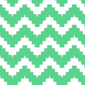 chevron white and green - large