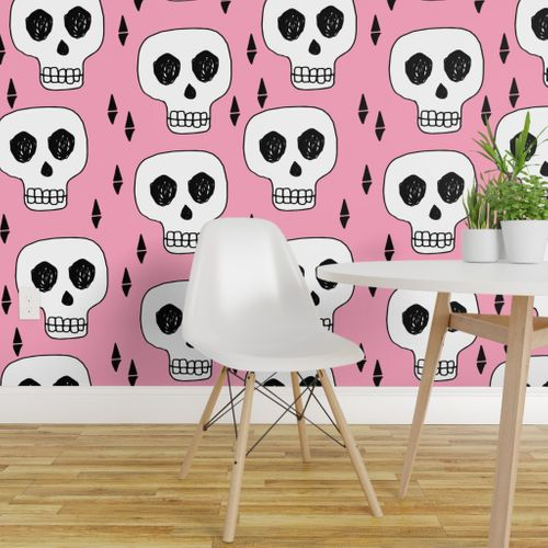 Groovy Shop Pink On Wallpaper Roostery Home Decor Products Onthecornerstone Fun Painted Chair Ideas Images Onthecornerstoneorg