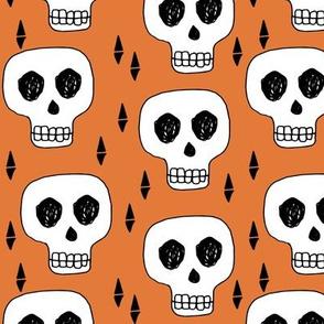 skull // skulls orange creepy scary kooky october halloween cute