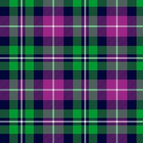 """MacNeil tartan, 8"""" green and purple"""