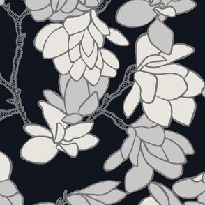 Magnolia Story Branches - Ebony